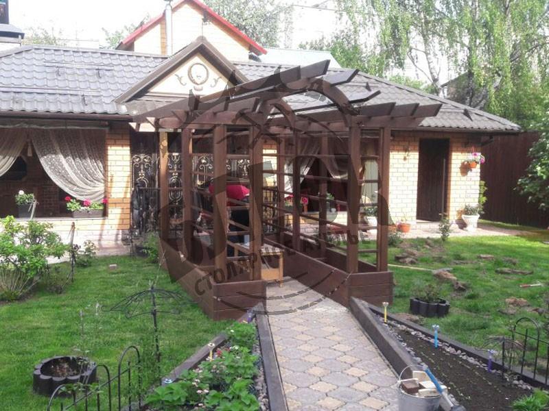 Деревянные перголы в Дмитрове