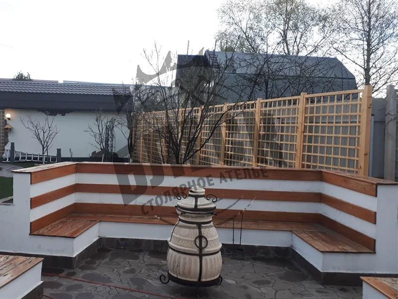 Забор из дерева в Дмитрове